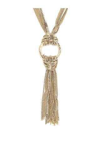 NECKLACE WITH GOLD RINGS AND CHAINS