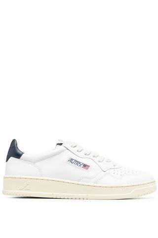 MEN'S AUTRY WHITE LEATHER SNEAKERS