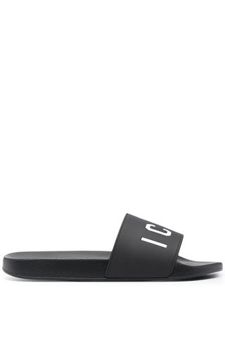 BLACK ICON SLIPPERS DSQUARED2