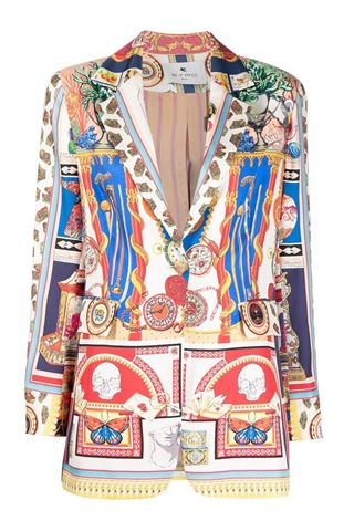 SINGLE-BREASTED JACKET WITH ETRO GRAPHIC PRINT