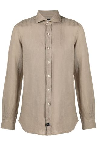 MEN'S LINEN SHIRT SAND FAY