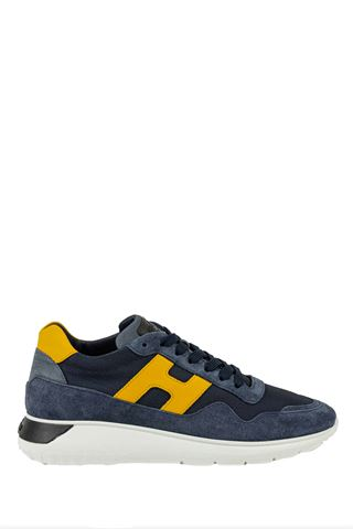 INTERACTIVE³ HOGAN MEN'S BLUE / YELLOW SNEAKERS
