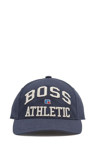 HAT WITH VISOR IN DARK BLUE BOSS FOR RUSSELL