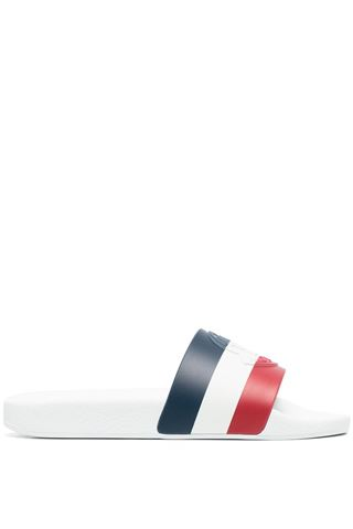 ICONIC MONCLER WHITE WOMAN SLIPPERS
