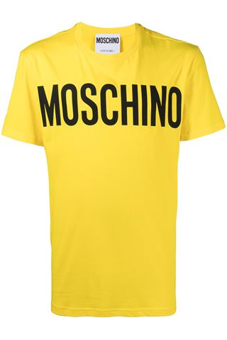 MOSCHINO YELLOW T SHIRT
