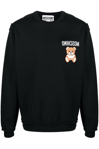 MEN'S COTTON SWEATSHIRT WITH MOSCHINO EMBROIDERY