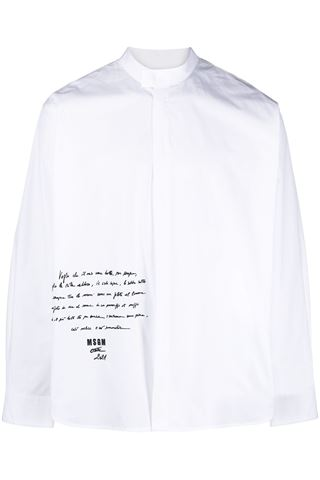 LONG SLEEVE SHIRT WITH MSGM LOGO