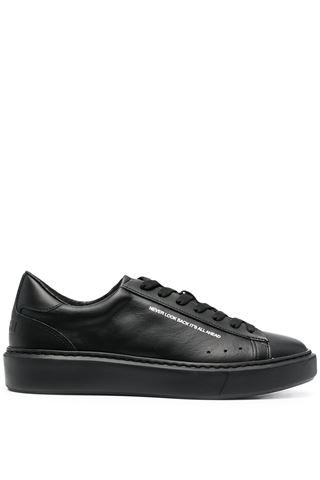 MEN'S BLACK LEATHER SNEAKERS MSGM