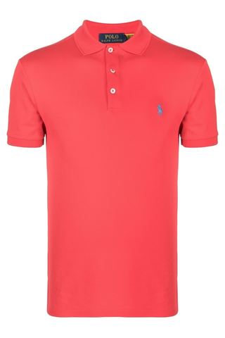 CORAL POLO SHIRT THREE BUTTONS POLO RALPH LAUREN