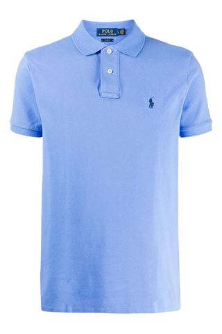 SKY BLUE POLO SHIRT WITH TWO BUTTONS POLO RALPH LAUREN