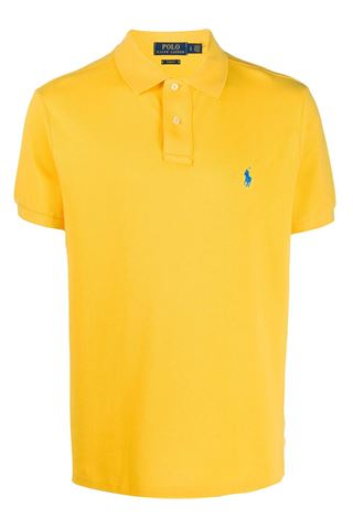 YELLOW POLO SHIRT WITH TWO BUTTONS POLO RALPH LAUREN